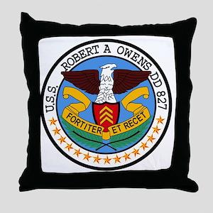 DD-827 USS ROBERT A OWENS Destroyer S Throw Pillow