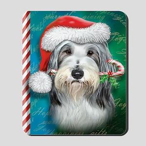 Bearded Collie-santa -journal Mousepad