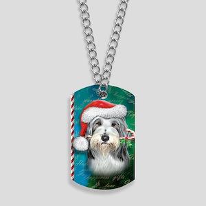Bearded Collie-santa -journal Dog Tags