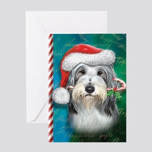 Bearded Collie-santa -journal Greeting Card