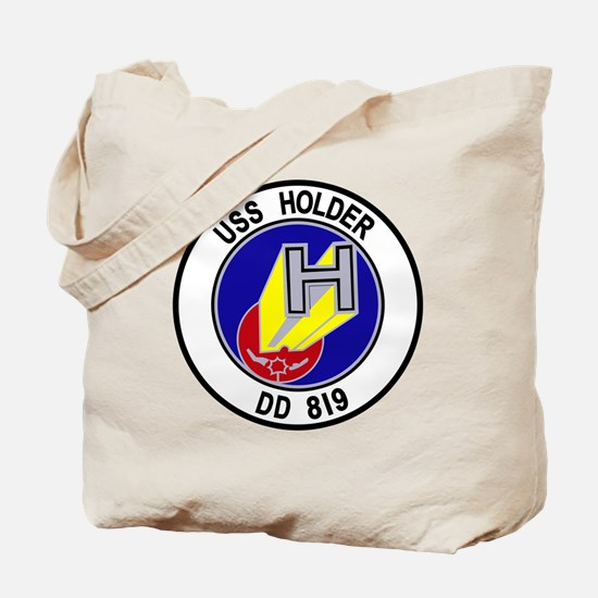DD-819 USS Holder US NAVY Destroyer Milit Tote Bag