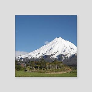 """Road and Mt Taranaki / Mt E Square Sticker 3"""" x 3"""""""