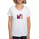Philippine Flag & US Flag Women's V-Neck T-Shirt