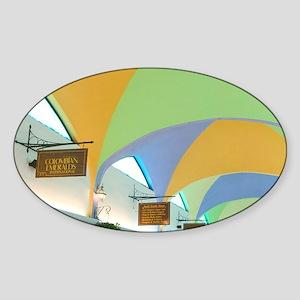 Shopping Mall InteriorIsland, Freep Sticker (Oval)