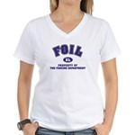 Foil: Fencing Dept Women's V-Neck T-Shirt