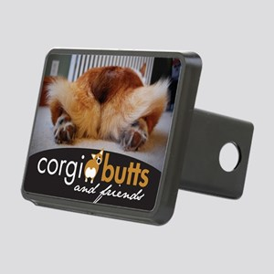 corgibuttscover Rectangular Hitch Cover