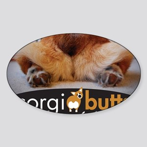 corgibuttscover Sticker (Oval)