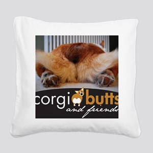 corgibuttscover Square Canvas Pillow