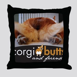 corgibuttscover Throw Pillow
