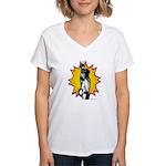 Lunge - Fencing Women's V-Neck T-Shirt