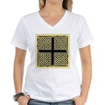 Celtic Square Cross Women's V-Neck T-Shirt