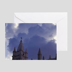 Caribbean, Cuba, Old Havana. Catholi Greeting Card
