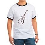 Brown Guitar Ringer T