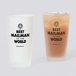 The Best in the World – Mailman Drinking Glass