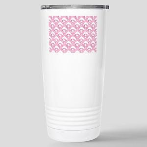 BCPinkRibCureTrLaptop Stainless Steel Travel Mug