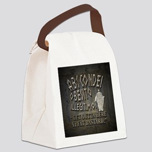 absconde fat sq Canvas Lunch Bag