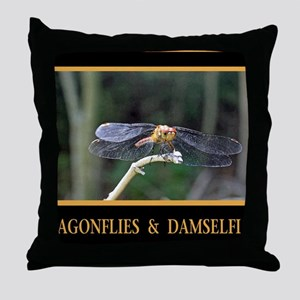 Dragonfly and Damselfly image Throw Pillow