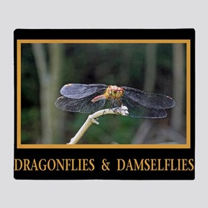 Dragonfly and Damselfly image Throw Blanket