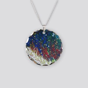 Paintings by Disabled Stroke Necklace Circle Charm