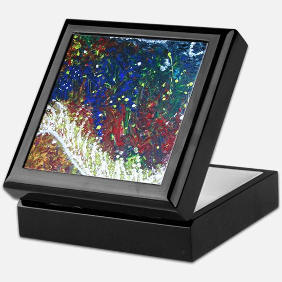 Paintings by Disabled Stroke Survivor Keepsake Box