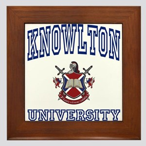 KNOWLTON University Framed Tile