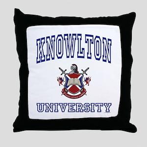 KNOWLTON University Throw Pillow