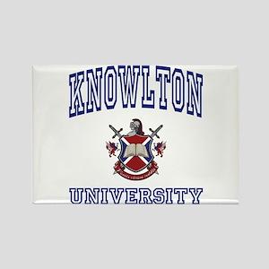 KNOWLTON University Rectangle Magnet