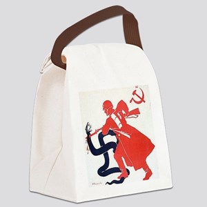 Death To Fascism WW2 Red Army Canvas Lunch Bag