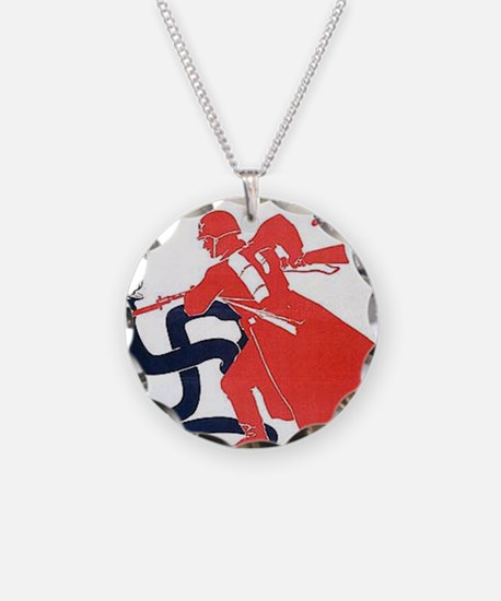 Death To Fascism WW2 Red Arm Necklace