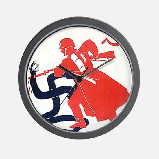 Death To Fascism WW2 Red Army Wall Clock