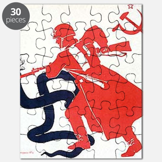 Death To Fascism WW2 Red Army Puzzle