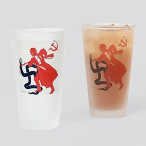 Death To Fascism WW2 Red Army Drinking Glass
