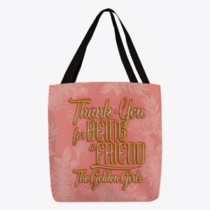 Gold Thank You For Being A Friend Polyester Tote B