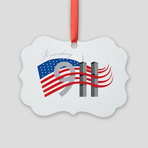REMEMBER 911 Picture Ornament