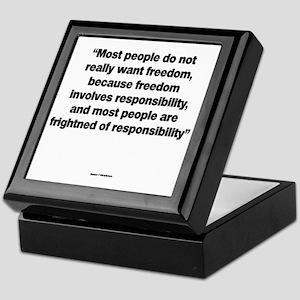 Responsabilities - Sigmund Freud Keepsake Box