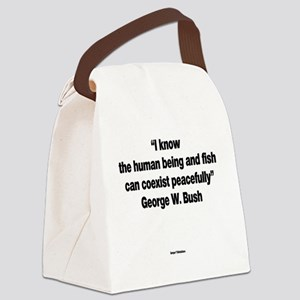 The Human Being And Fish - George Canvas Lunch Bag
