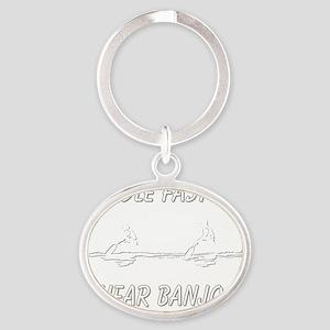 banjos-dark Oval Keychain