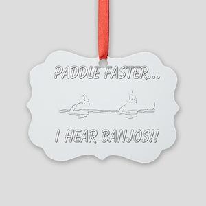 banjos-dark Picture Ornament