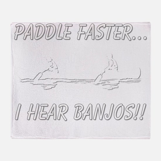 banjos-dark Throw Blanket