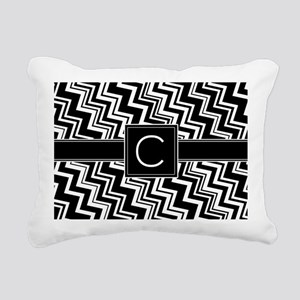 C_zig_inital_02 Rectangular Canvas Pillow
