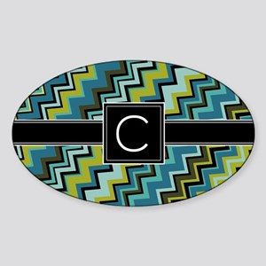 C_zig_inital_03 Sticker (Oval)