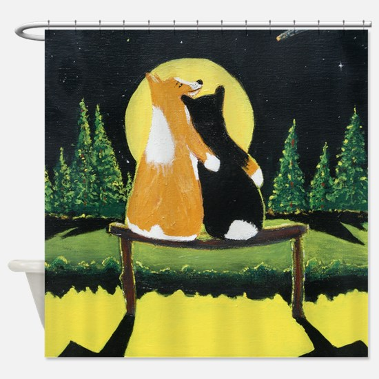 corgilove final 003_edited-1 Shower Curtain