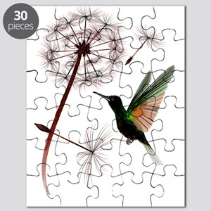 Dandelion and Hummingbird Trans Puzzle