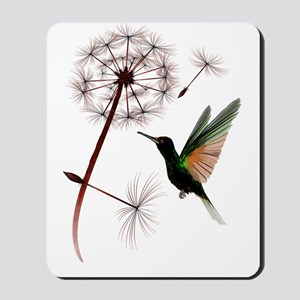Dandelion and Hummingbird Trans Mousepad