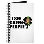 I See Green People Leprechaun Journal