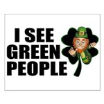 I See Green People Leprechaun Small Poster