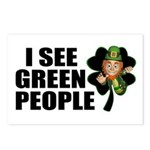 I See Green People Leprechaun Postcards (Package o
