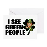 I See Green People Leprechaun Greeting Cards (Pack