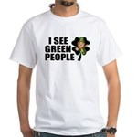 I See Green People Leprechaun White T-Shirt