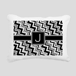 J_zig_inital_02 Rectangular Canvas Pillow